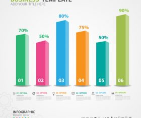 Infographics elements diagram template vectors 04