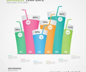 Infographics elements diagram template vectors 06