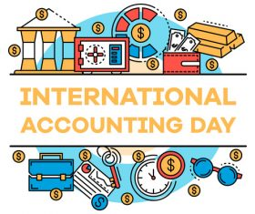 International accounting day business template vector 01