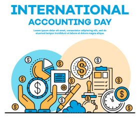 International accounting day business template vector 02