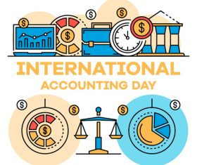 International accounting day business template vector 03