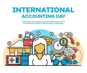 International accounting day business template vector 04