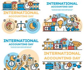 International accounting day business template vector 05
