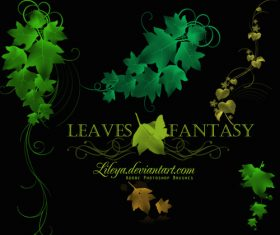 Leaves Fantasy Photoshop Brushes