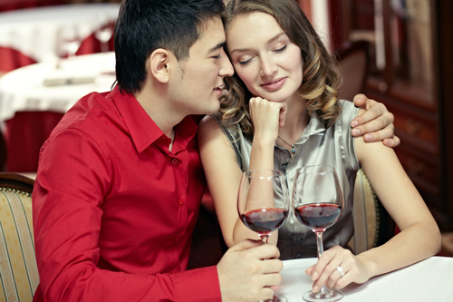 Lovers Dating At The Restaurant Stock Photo 05 Free Download