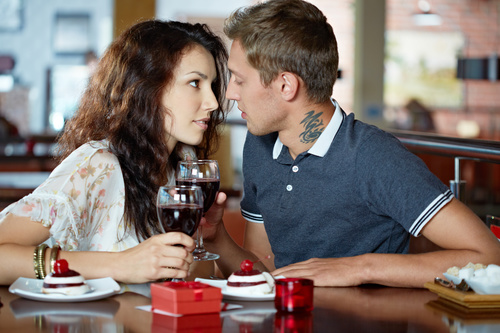 Lovers Dating At The Restaurant Stock Photo 09 Free Download