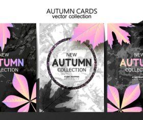 Luxury autumn card template vector