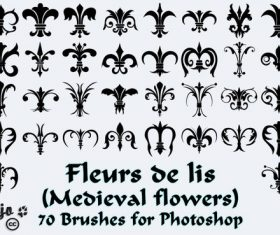 Medieval flowers Brushes Photoshop