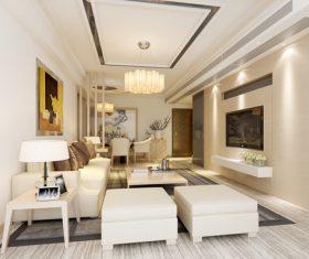 Minimalist style interior design Stock Photo 01