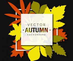 Modern autumn background art vectors