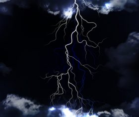 Night sky lightning background vectors 05