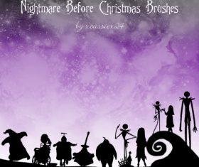 Nightmare Christmas Photoshop Brushes