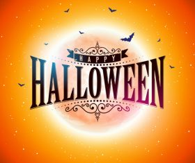 Orange halloween background vectors 05