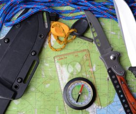 Outdoor survival essential items Stock Photo 02