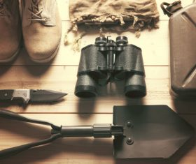Outdoor survival essential items Stock Photo 04