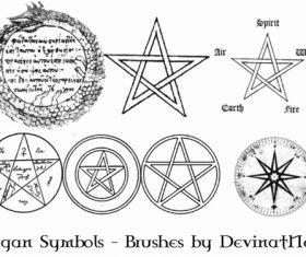 Pagan Symbols Photoshop Brushes