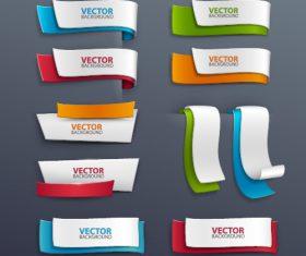 Paper banner template vector set 01