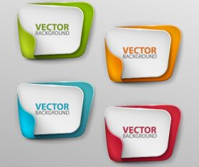 Paper banner template vector set 02