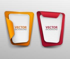 Paper banner template vector set 03