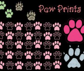 Paw Print Photoshop Brushes