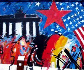 Personality graffiti on the wall Stock Photo 03