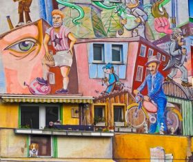 Personality graffiti on the wall Stock Photo 04