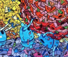 Personality graffiti on the wall Stock Photo 05