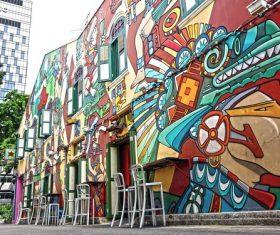 Personality graffiti on the wall Stock Photo 06