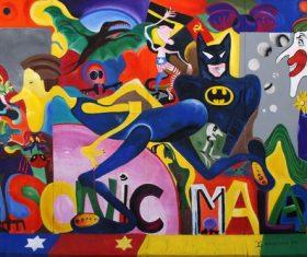 Personality graffiti on the wall Stock Photo 07