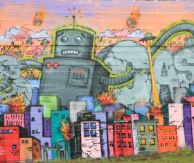 Personality graffiti on the wall Stock Photo 08