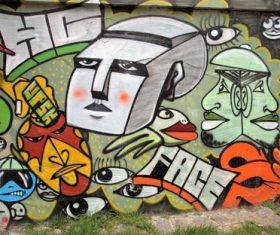 Personality graffiti on the wall Stock Photo 09