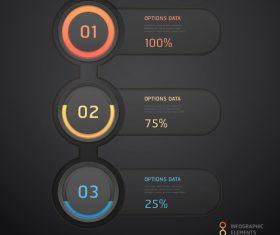 Personality statistics chart design vector material 01