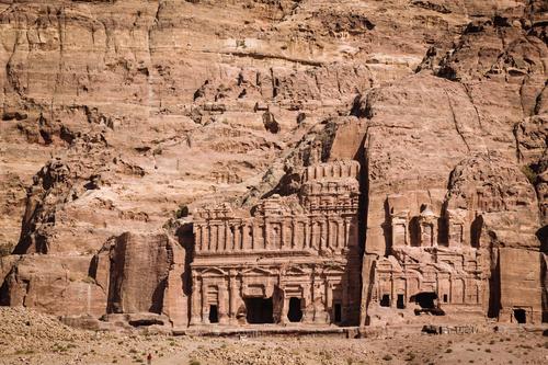 Petra architectural landscape in Jordan Stock Photo 02