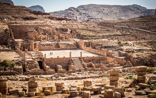 Petra architectural landscape in Jordan Stock Photo 03
