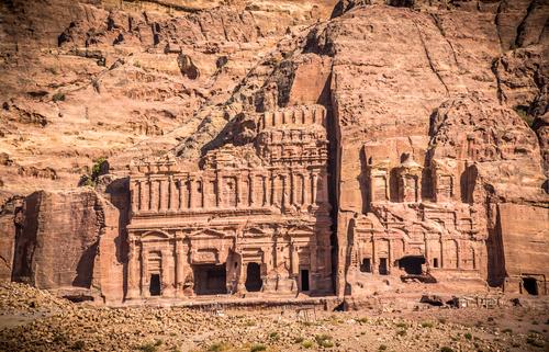 Petra architectural landscape in Jordan Stock Photo 04