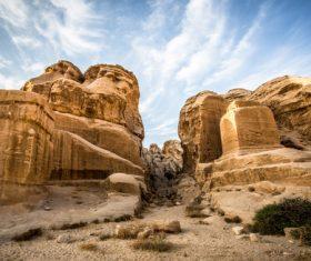 Petra architectural landscape in Jordan Stock Photo 05
