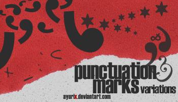 Punctuation marks variations Photoshop Brushes
