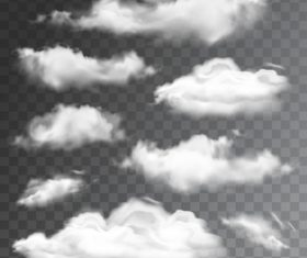 Realistic clouds illustration vectors set 01