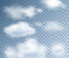 Realistic clouds illustration vectors set 02