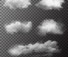 Realistic clouds illustration vectors set 03