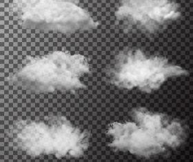 Realistic clouds illustration vectors set 04