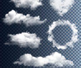 Realistic clouds illustration vectors set 05