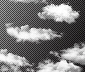 Realistic clouds illustration vectors set 07