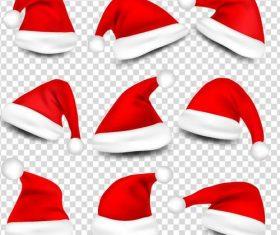 Red christmas headdress illustration vector 01
