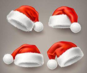 Red christmas headdress illustration vector 02