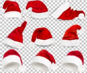 Red christmas headdress illustration vector 03