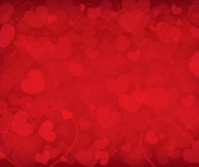 Red heart shaped background pattern vector material 02