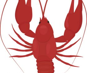 Red lobster silhouette vector