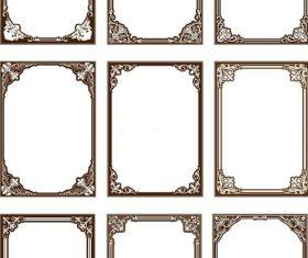 Retro decro frames vector set 01