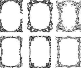 Retro decro frames vector set 02